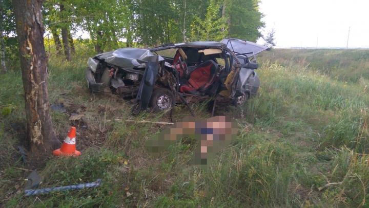 Водитель вазовской «девятки» без прав погиб на трассе в Башкирии