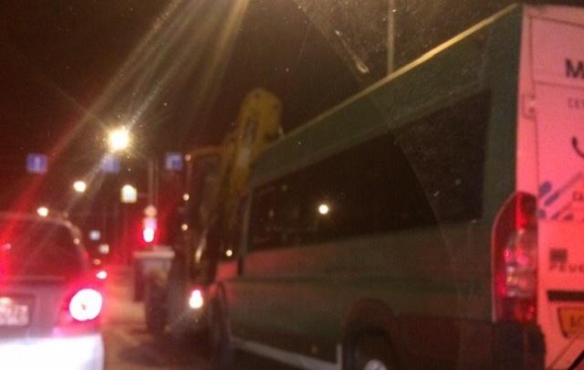 На Московском тракте 80-я маршрутка «догнала» трактор: пострадали четыре пассажира