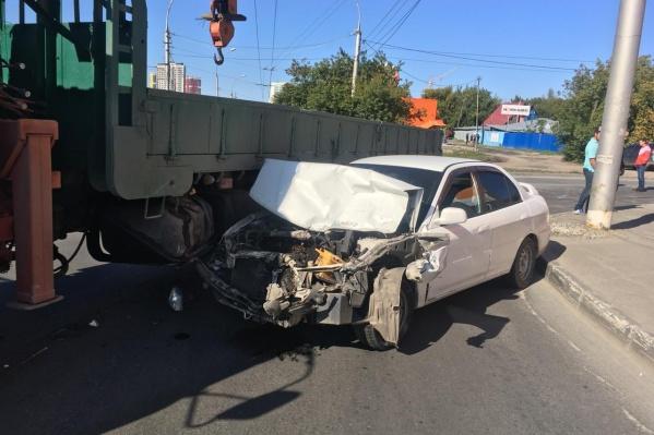 Авария случилась в 14:45