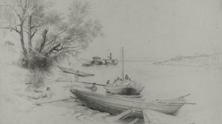 В XIX веке американский художник сделал два эскиза с видами Омска. Что он изобразил?