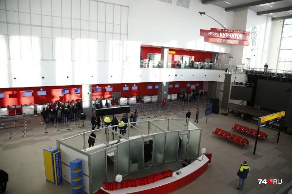 Новый терминал челябинского аэропорта построили с нуля. Официально открыть его должны до конца года