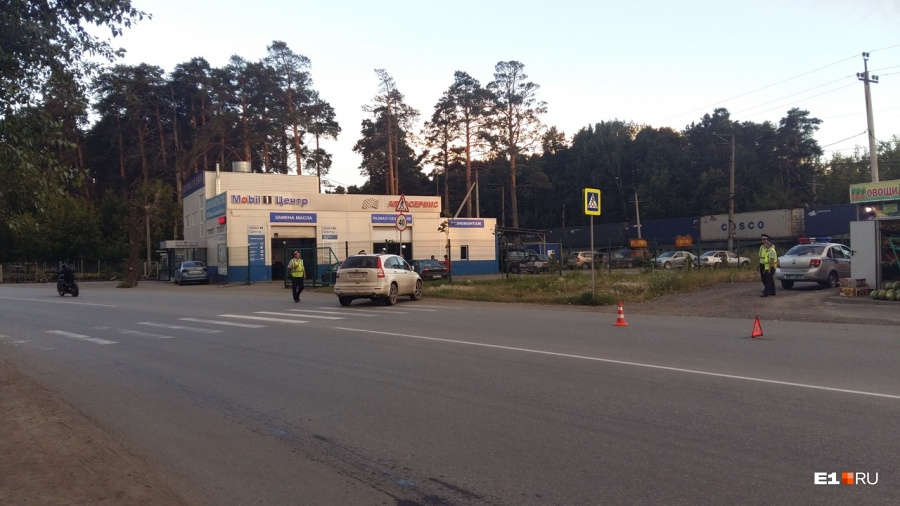 mitsubishi сбил девушку на переходе екатеринбург