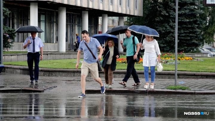 С пятницы в Омске начнутся дожди