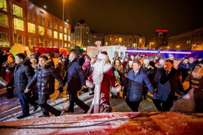 В Новосибирске городок открылся 25 декабря