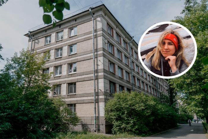 То самое общежитие, из окна четвертого этажа которого упала Евгения
