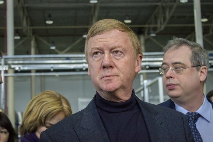 Анатолий Чубайс на новосибирском заводе «Лиотех»