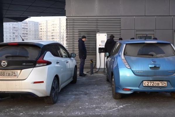 Nissan Leaf — самая популярная марка электрокара в Красноярске