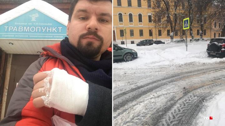«Я готов судиться!»: в Ярославле дорожный активист требует с мэрии деньги за сломанную руку
