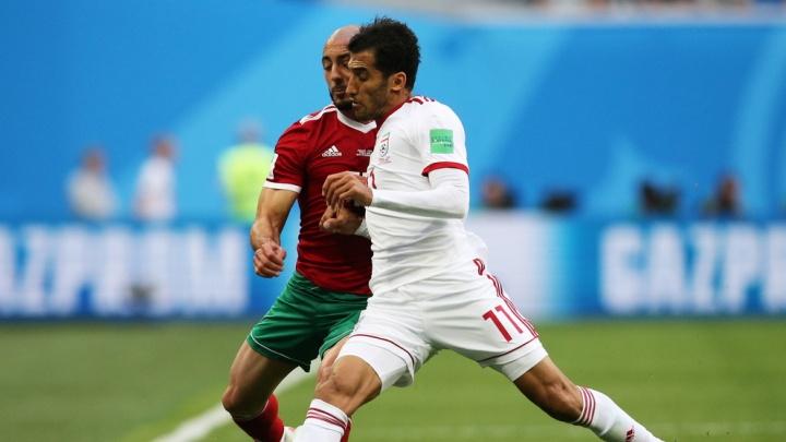 В матче между Ираном и Марокко в Санкт-Петербурге забили один гол — и то в свои ворота