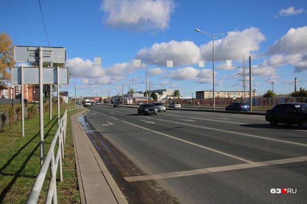 Самарцы просят убрать препятствия для автомобилистов с дороги