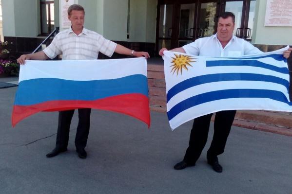Так выглядят флаги государств, сборным которых предстоит сразиться в Самаре