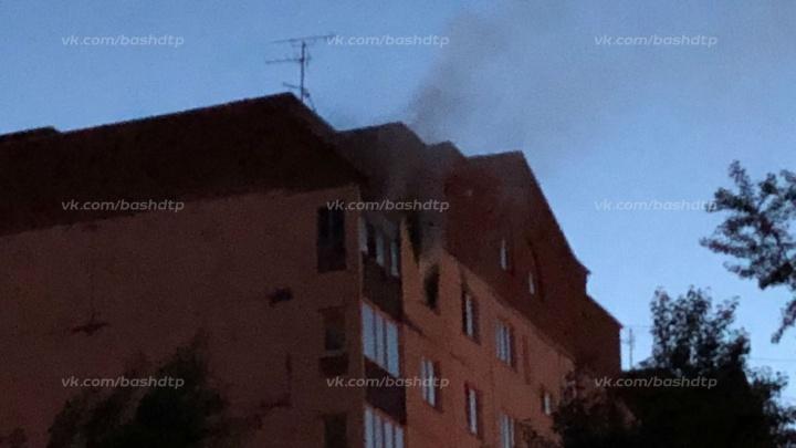 В День города в Уфе вспыхнула квартира