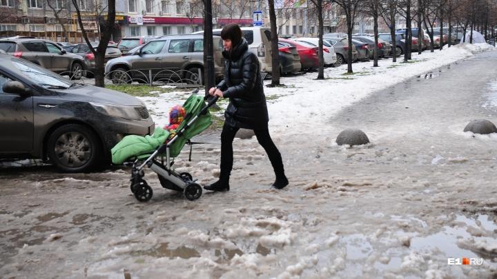 Готовьтесь к снежной каше: в Екатеринбург придут потепление до +8 градусов и дожди