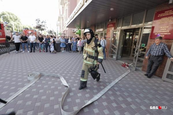 Возгорание произошло в подвале университета