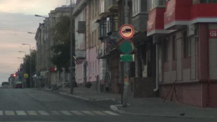 Замена испорченных вандалами знаков будет стоить Кургану 28 тысяч рублей