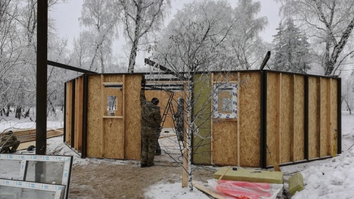 В Омске начали строить хаски-парк