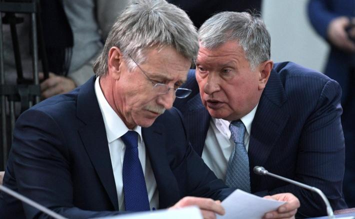 Леонид Михельсон с главой «Роснефти» Игорем Сечиным
