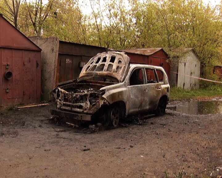 Подозреваемый сжег тело бизнесмена вместе с машиной