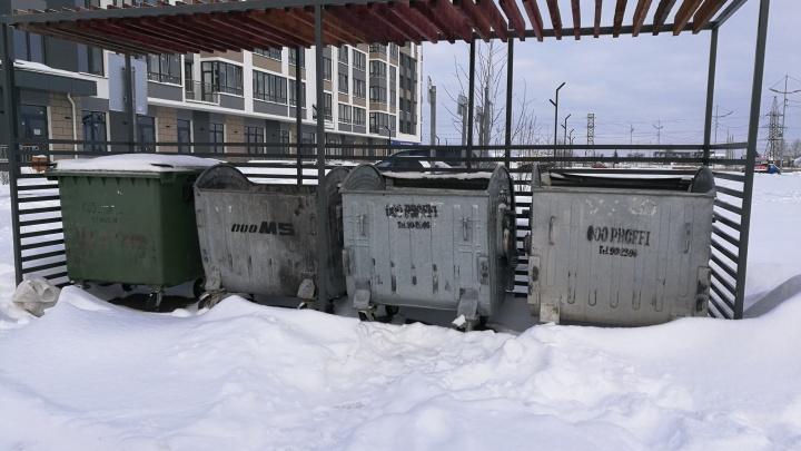 В новом году тюменцы стали почти в два раза быстрее наполнять контейнеры для мусора