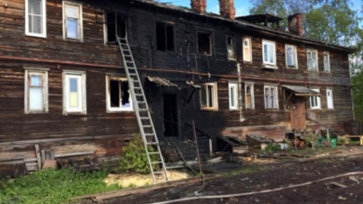 В пожаре в Соломбале погибли женщина и ее шестилетний сын