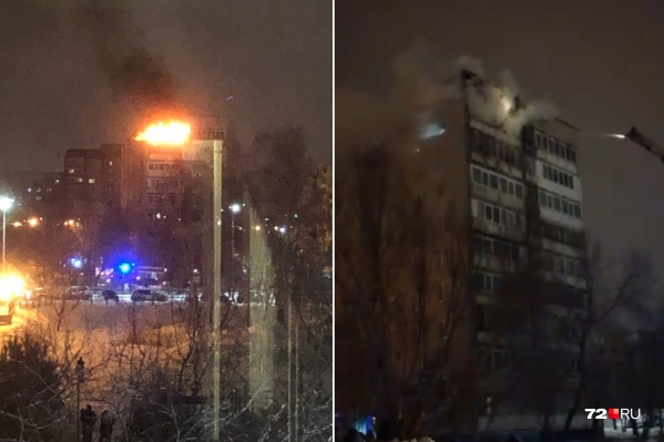 Очевидцы происшествия говорят, что пожар начался спустя несколько минут после запуска фейерверка