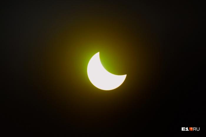 Это солнечное затмение, которое было в 2015 году