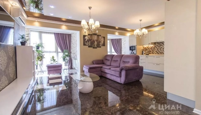 Три отдельные спальни, 2 санузла, 5 лоджий: разглядываем квартиру за 16 000 000 рублей
