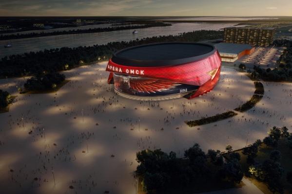 Так новая арена будет выглядеть с высоты птичьего полёта