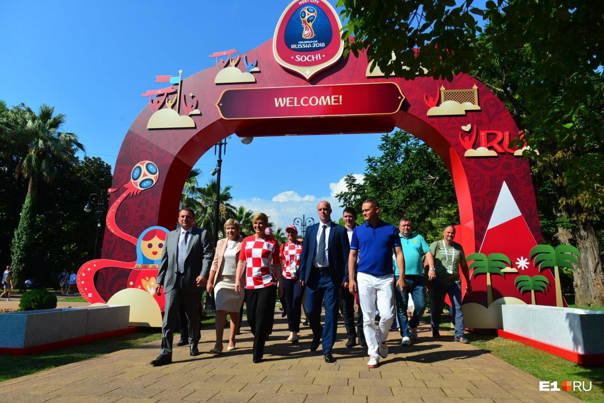 Чтобы посмотреть матч, в Сочи приехала президент ХорватииКолинда Грабар-Китарович