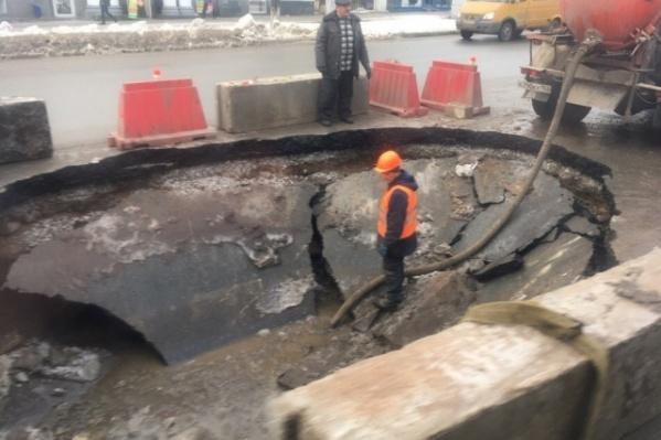 Ufa1 подготовил календарь обрушения грунта на дорогах города за прошлый год