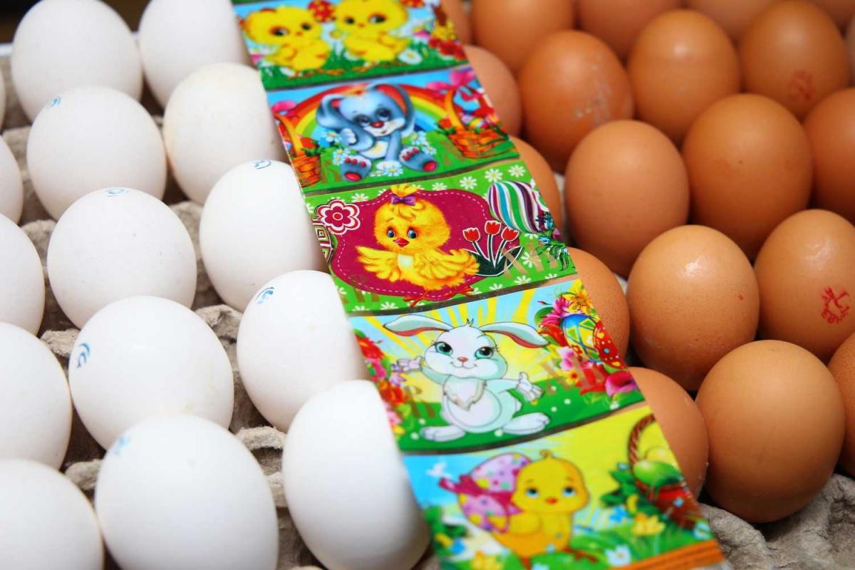 Деревенские яйца лучше всего подходят для Пасхи
