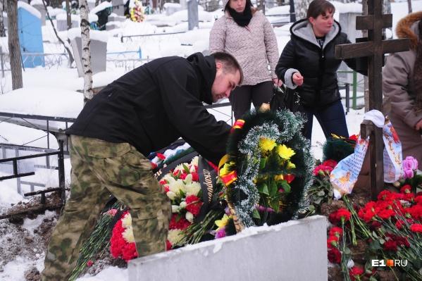 Игнат Боричев в январе 2015 года на старом Нижне-Исетском кладбище Екатеринбурга похоронил своего брата, который погиб в боях под Луганском