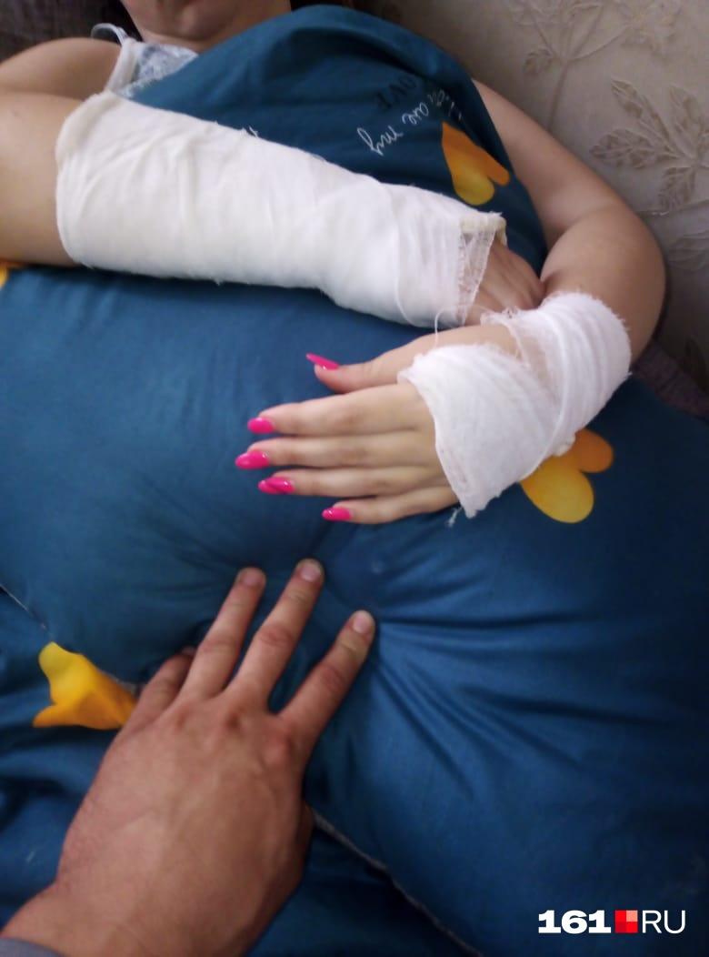 Женщина получила серьезные травмы
