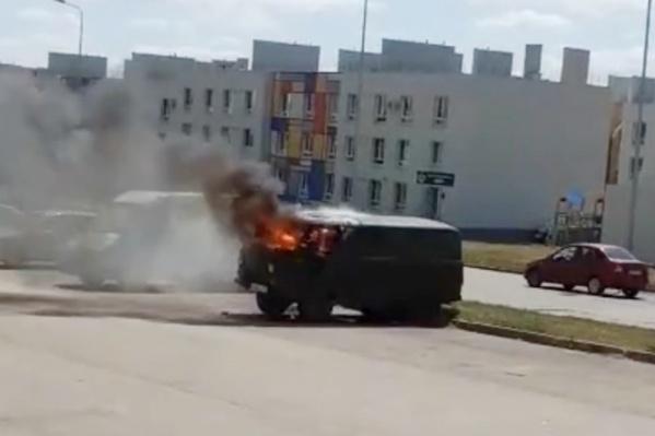 Причины возгорания авто пока неизвестны
