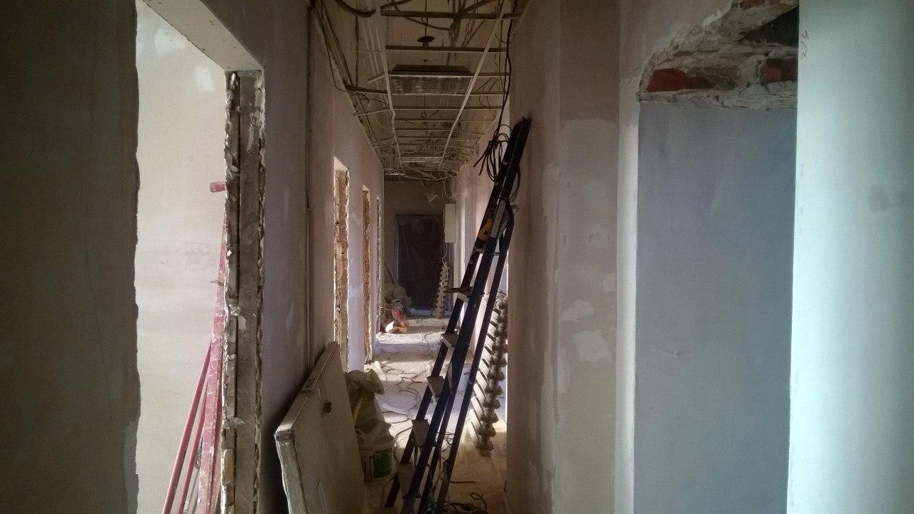 Ремонт второго этажа в театре «Старый дом»