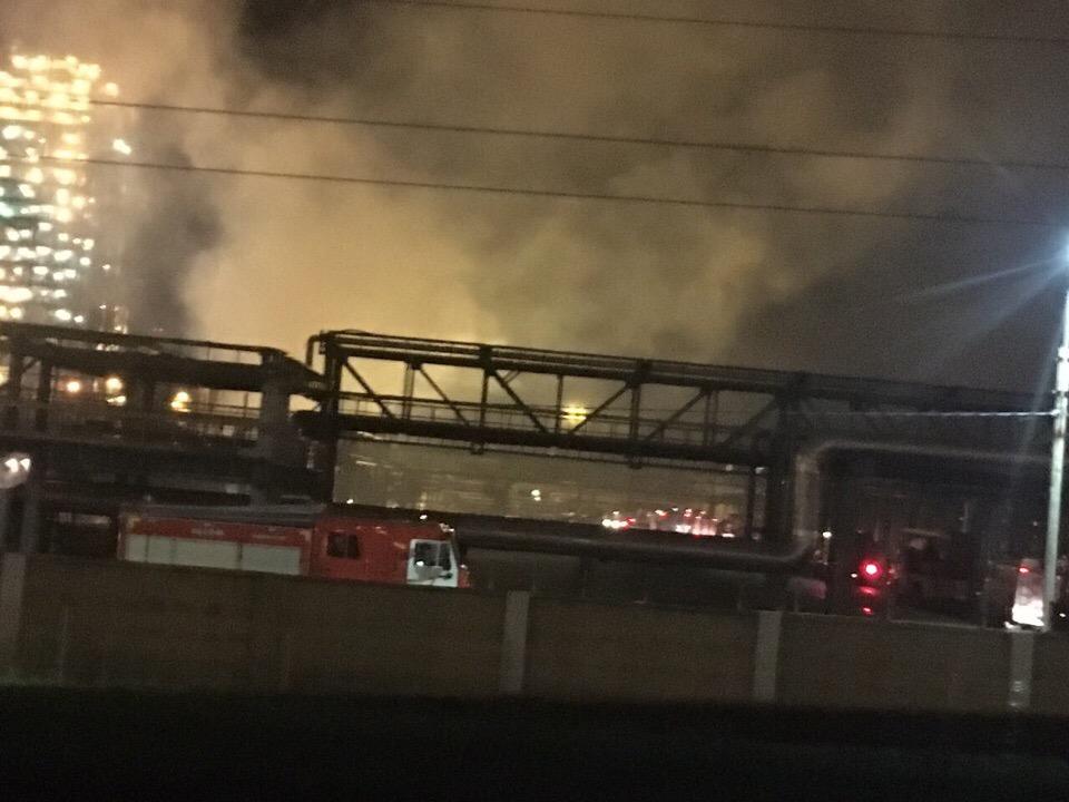 ВЯрославле пламенеют  две установки нефтеперерабатывающего завода