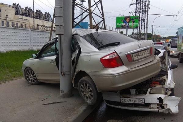Авария произошла в 15:00