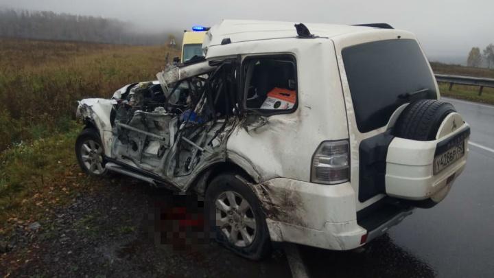 Смертельная авария на трассе в Башкирии: Mitsubishi улетел в кювет