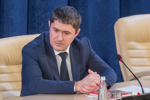 На минувшей неделе Дмитрий Махонин занял пост врио губернатора Пермского края