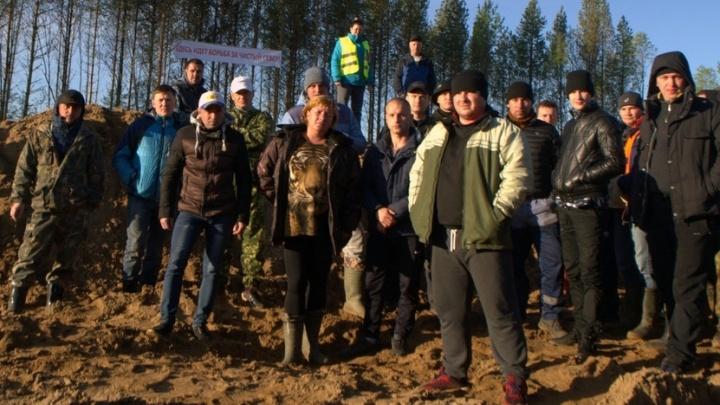 Ночью на Шиесе составили протокол на активистку из Красноборского района