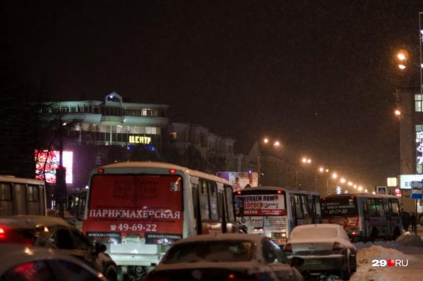 В Новый год в Архангельске будет перекрыта часть улиц