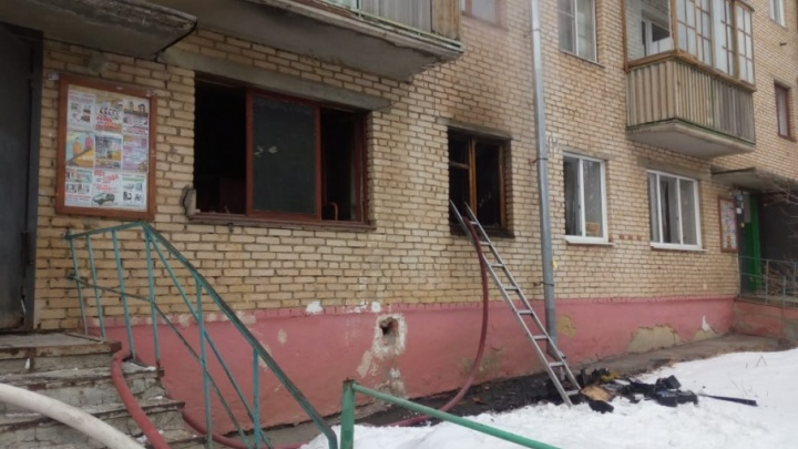 В Башкирии загорелась квартира: пострадали двое