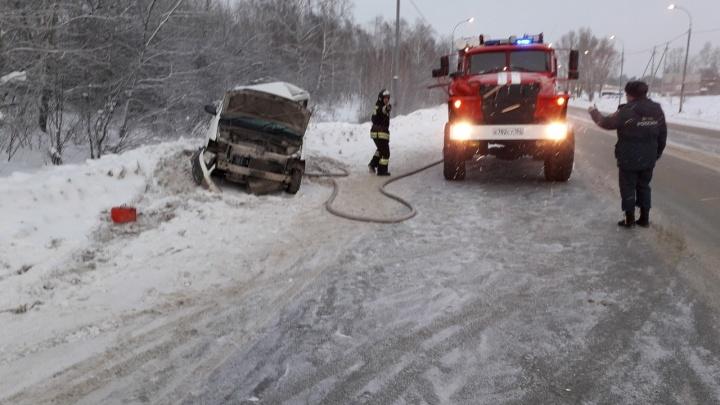 Смертельное ДТП на трассе под Новосибирском: женщина скончалась до приезда скорой