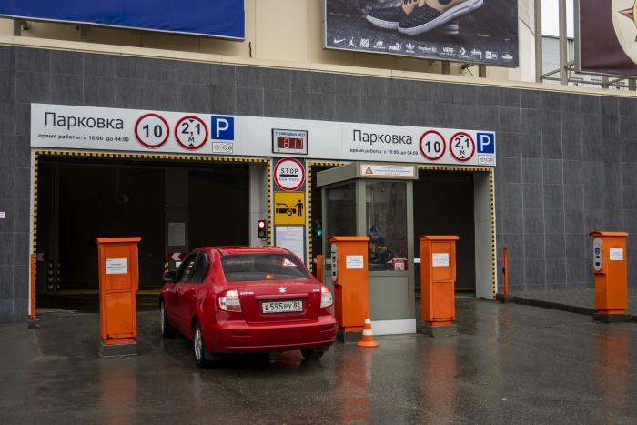 На парковке ТРЦ «Галерея Новосибирск» запрещено парковаться автомобилям, работающим на газе