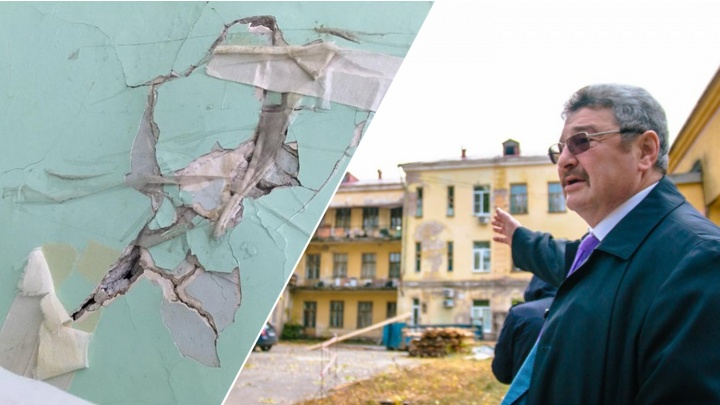В больнице Семашко прокомментировали жалобы на заклеенные скотчем трещины