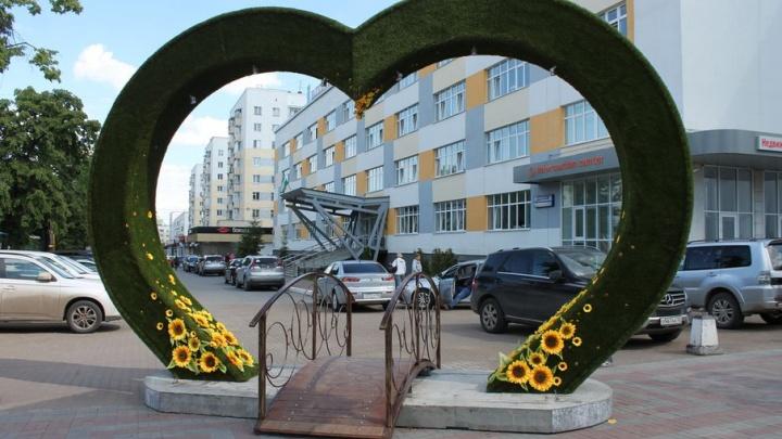 Уфу украсили «Зеленым сердцем»