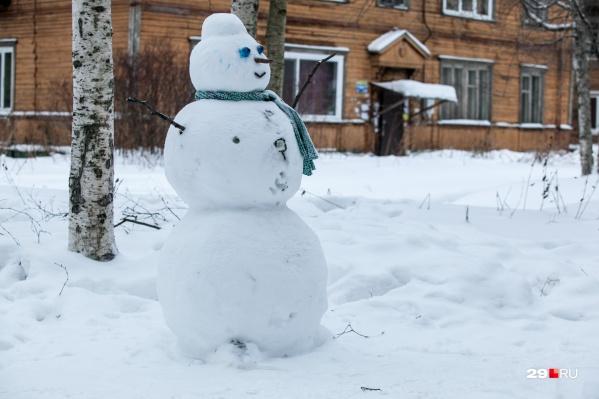 Снег в выходные будет как раз для того, чтобы лепить снеговиков