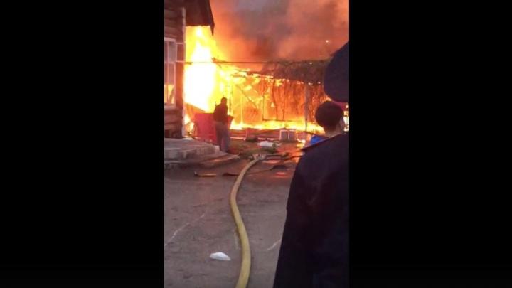 В Уфе во время празднования дня рождения сгорела баня
