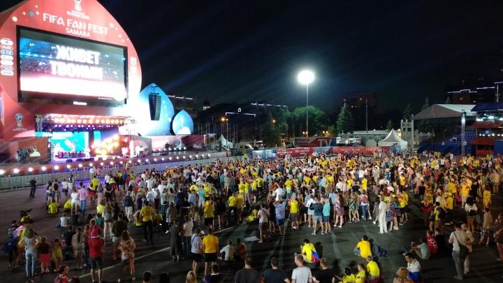 На фестивале болельщиков в Самаре выходной