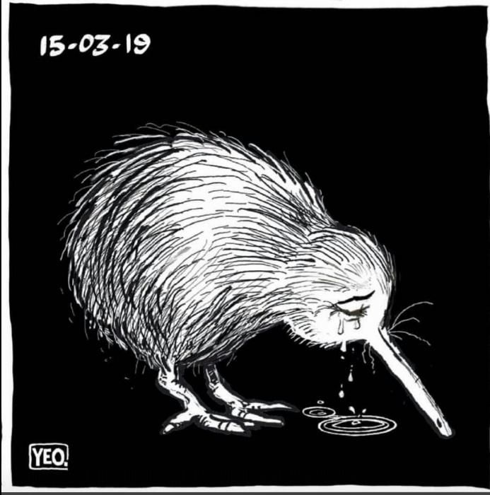 Плачущая птичка киви —сейчас символ трагедии в Новой Зеландии
